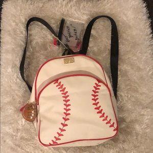 Betsey Johnson baseball backpack brand new